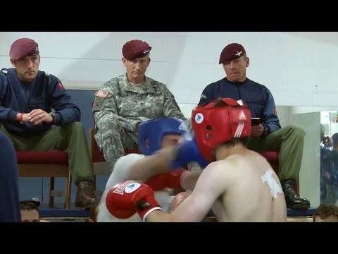 VIP Visitor Adds Pressure to Parachute Regiment Recruits 02.06.14