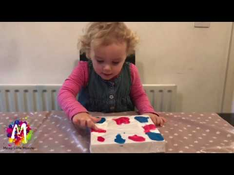 Easy Art Ideas For Kids - NO MESS CLING FILM PAINTING - Fun Activities For Toddler And Preschoolers