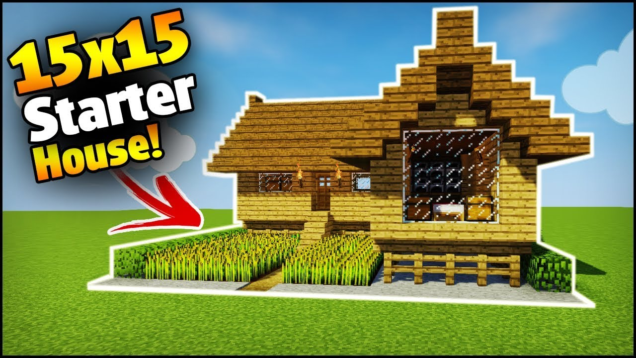 Minecraft  15x15 Starter House Tutorial - How To Build A House In Minecraft