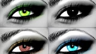 Machiaj pentru ochi caprui, verzi sau albastri Pentru blonde, roscate sau pentru brunete
