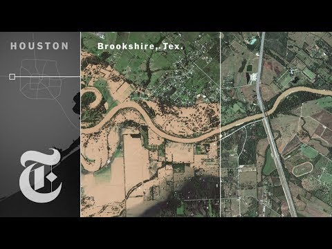 Texas, Before And After Harvey By Satellite