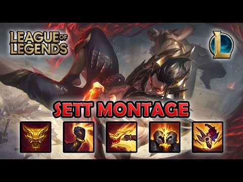 SETT MONTAGE - One Shot | Obsidian Dragon Sett Skin | League of Legends