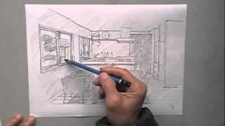 簡単白黒パース、建築パース、白黒で簡単にスケッチする方法です。イン...