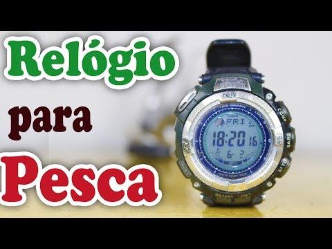 CASIO PROTREK para PESCA de PRAIA - RELÓGIO com TABUAS de MARÉS - PRESSÃO ATMOSFÉRICA - FASES LUNAR