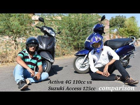 Honda Activa 4G 110cc vs Suzuki Access 125cc comparison 2018