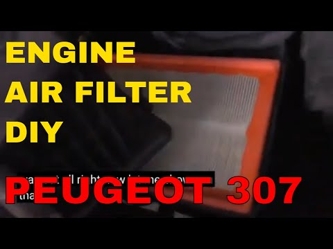 Peugeot 307 / 307sw change / replace engine air filter