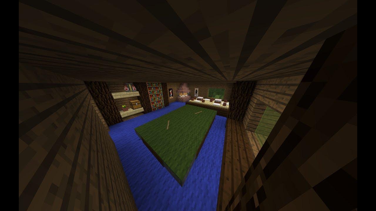 Minecraft wohnzimmer mit kamin und billard tisch the milestone lp youtube - Minecraft wohnzimmer ...