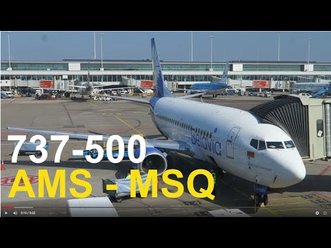 Flight Report / Belavia 737-500 / Amsterdam - Minsk