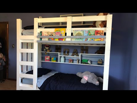 Build A Bunk Bed With Rock Climbing Wall