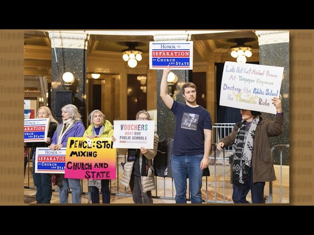 Picketing Pence Over Religious Vouchers