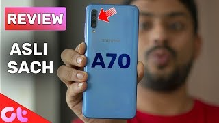 Samsung Galaxy A70 Review with Pros and Cons   Best By SAMSUNG?   GT Hindi