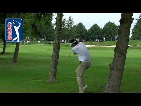 Bubba Watson almost struck by his own ball at RBC Canadian 2018