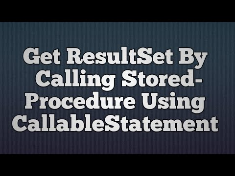 16.Get ResultSet By Calling StoredProcedure Using CallableStatement