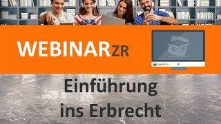 Einführung ins Erbrecht (Webinar) ► juracademy.de