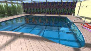 R.S.piscine s.r.l.  progettazione 3d piscina riabilitativa