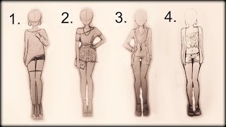 ❤ Drawing Tutorial - How to draw 4 spring outfits ❤