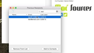 How-To Delete Email from Auto-complete in Apple Mail
