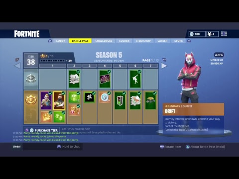 How To Get The Fully Upgraded Drift   FortNite Battle Royale
