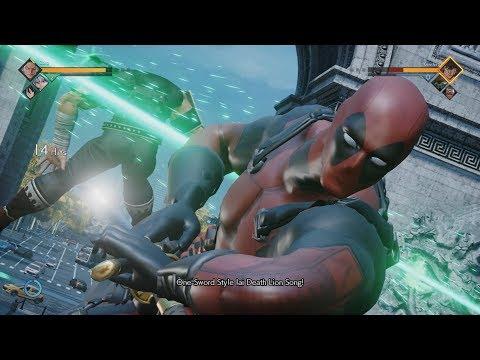 Jump Force PC - Deadpool Mod Gameplay 1080p 60 FPS