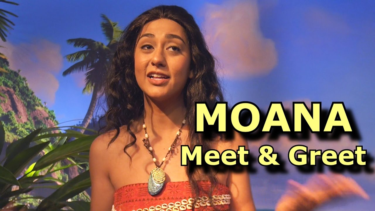 Moana Meet Greet Disneys Hollywood Studios Walt Disney World