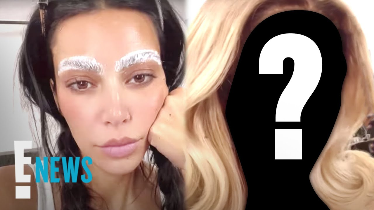 Kim Kardashian Looks Unrecognizable With Bleached Eyebrows