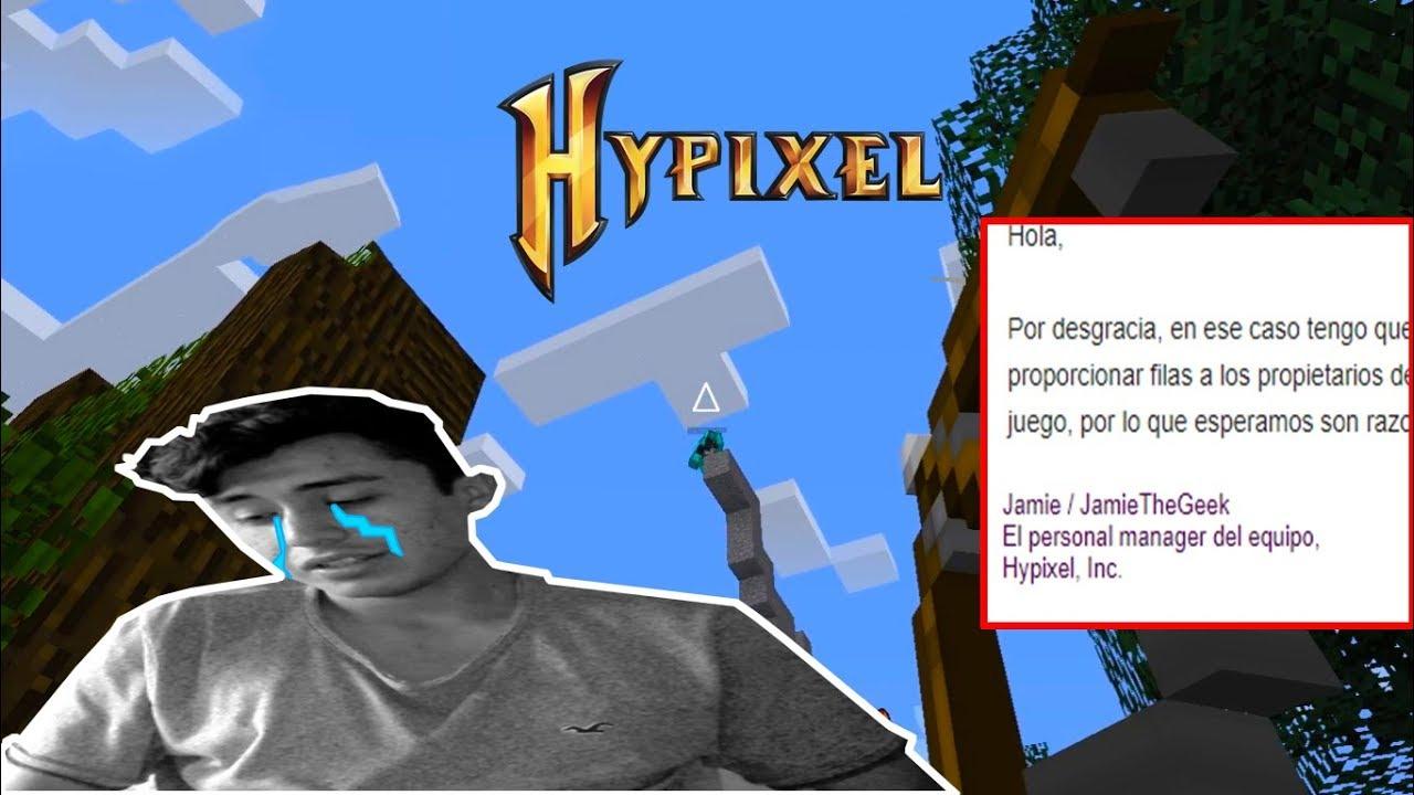 👉 ATENCIÓN! HYPIXEL ME CONTACTO!! - SkyWars Minecraft