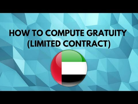 How To Compute Grautity limited contract in UAE