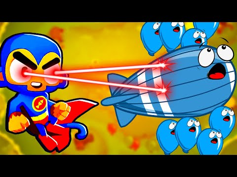 SUPERMONKEY is Incredibly Overpowered! Can Anything Get Past Him in Bloons TD 6?