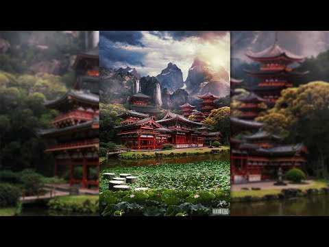 Mysterious matte painting landscape Manipulation Photoshop Tutorial