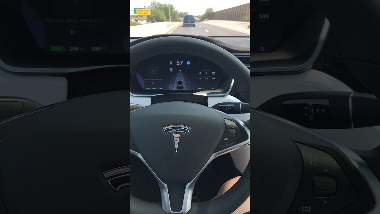 2017 Tesla Model X 100D using Autopilot