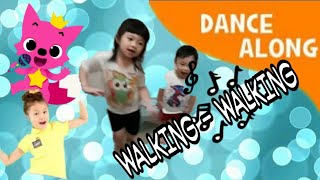 WALKING WALKING |Lagu Anak TERBARU PINKFONG| INDONESIAN KIDS DANCE|NURSERY RHYMES|Super Simple Songs