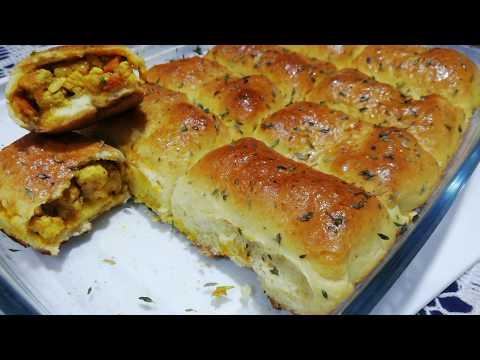 recette-salée-facile-et-rapide-👌-petits-pains-roulés-aux-poulet-et-oignon-/-easy-recipe