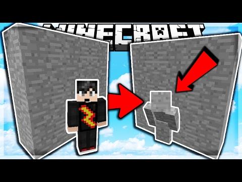 LÀM SAO CÓ THỂ THẤY MÌNH!!!   Minecraft SKYWARS TROLLING (I AM STONE CHALLENGE)