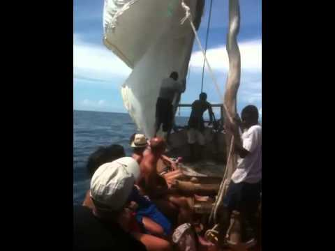 Sailing Indian Ocean in Ancient African Ship