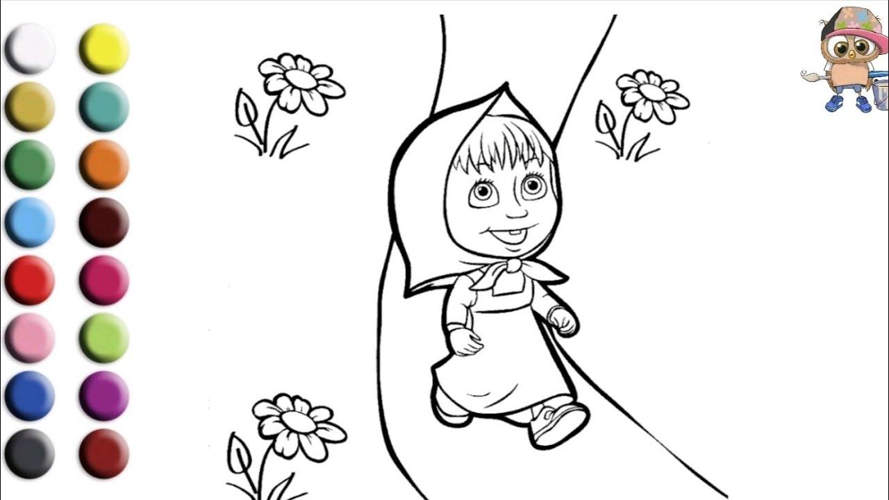 Раскраска для детей МАША И МЕДВЕДЬ. МАША. Мультик ...