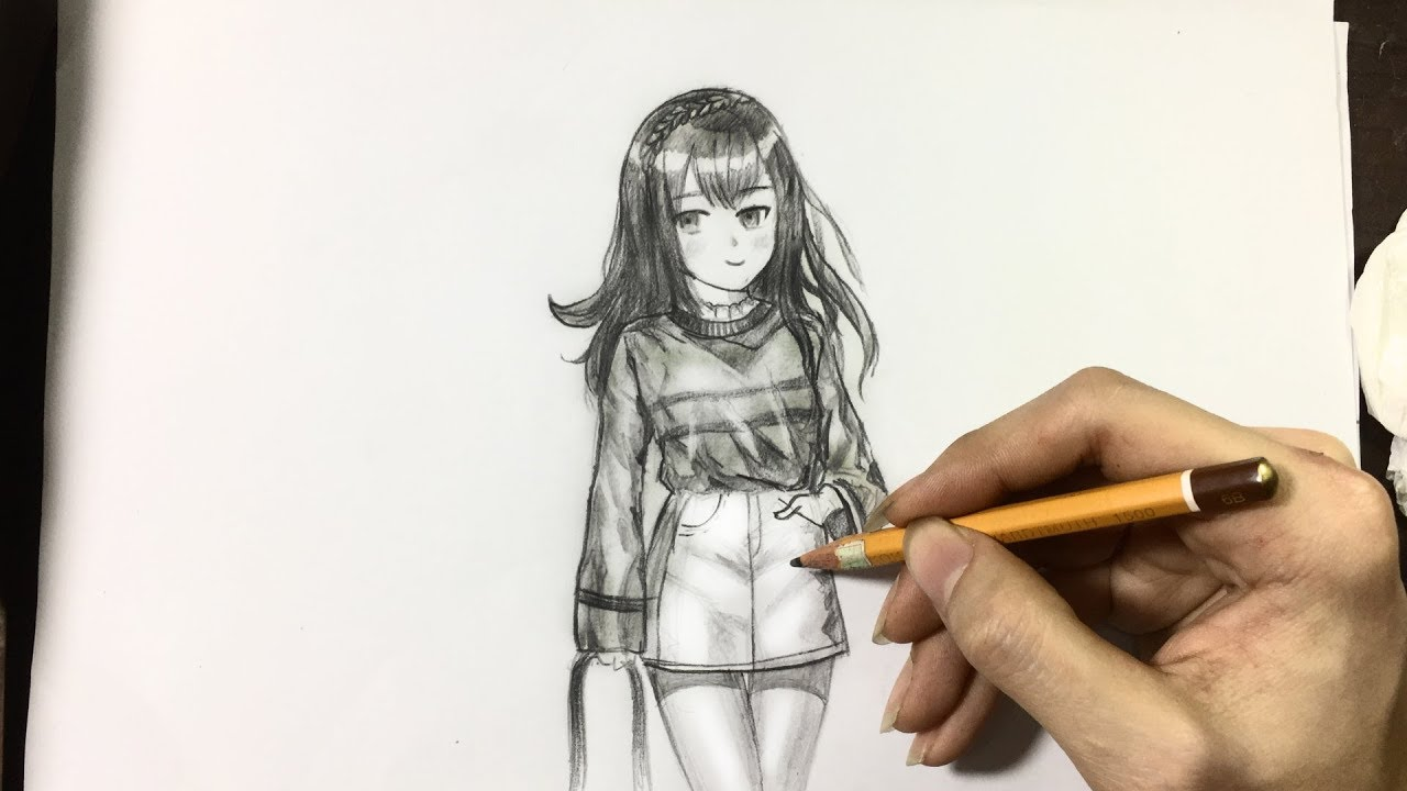Cách vẽ anime tuyệt đẹp bằng bút chì | How to draw anime by pencil | manga drawing#VIEW