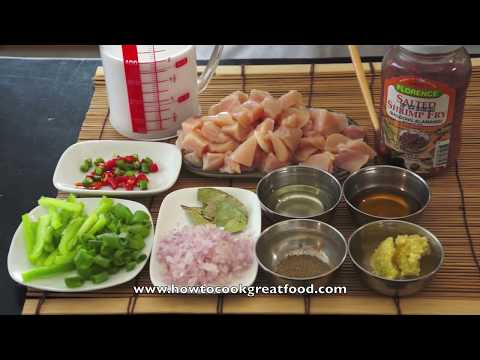Chicken Bicol Express recipe how to cook great Filipino Pinoy food (not Pork) Asian