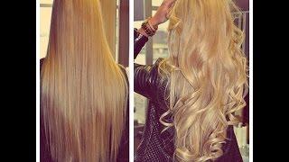 Объёмная укладка для длинных волос! Объемные локоны