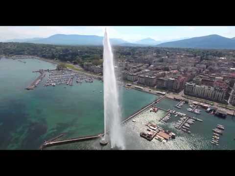 Jet d'eau de Genève- Water fountain of Geneva - 4K
