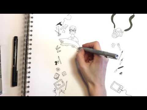 Основы иллюстрации. Скетчноутинг о предстоящем курсе