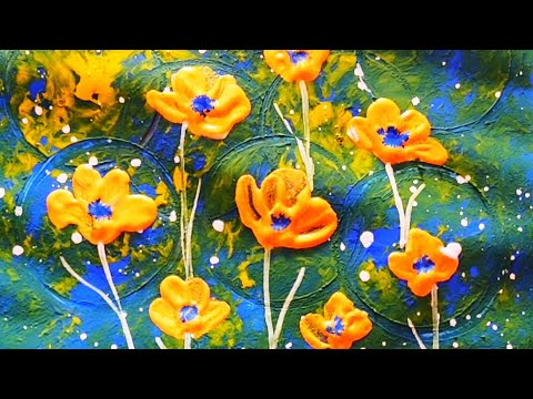 easy poster painting ideas for beginners golden flowers painting ideas abstract painting ideas