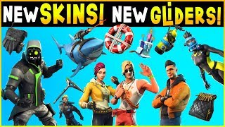 Fortnite - INSANE NEW LEAKED SKINS, NEW GLIDERS, NEW PICKAXES, New Back Bling (Season 5 Update 5.1)