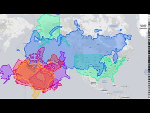 Compare USA land area with RUSSIA, CHINA,...