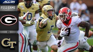 Georgia vs. Georgia Tech Full Game   2019 ACC Football