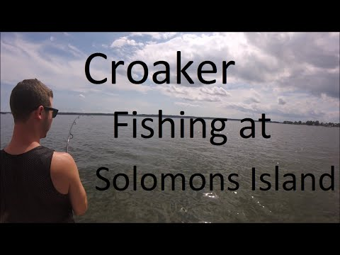 Croaker Fishing at Solomons Island