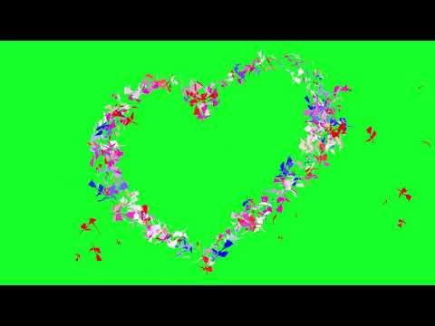 Green Screen: Rose Effects Love _ Heart Wedding Animated thumbnail