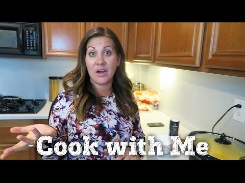 COOK WITH ME   PAULA DEEN CROCKPOT MAC AND CHEESE w/ ASPARAGUS   PHILLIPS FamBam Cook with Me