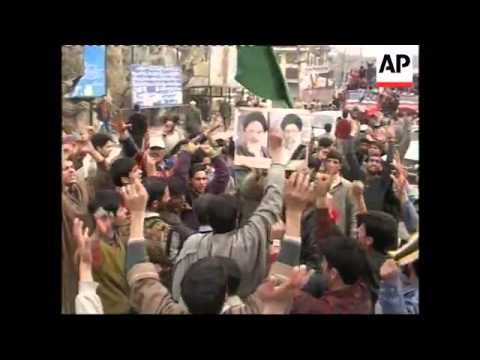 WRAP Iran, Kashmir, Pakistan protests against Iraq dome destruction