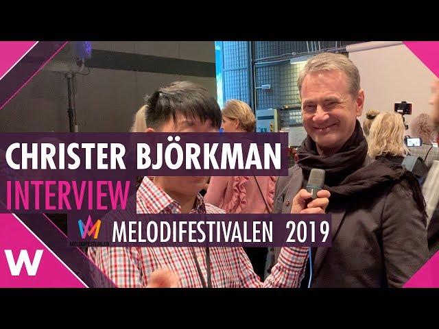 Christer Björkman Interview @ Melodifestivalen 2019 | wiwibloggs