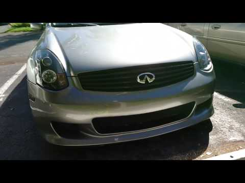 How To Replace HID Headlights Infiniti G35 Coupe Sedan Without Removing Bumper Or Headlights